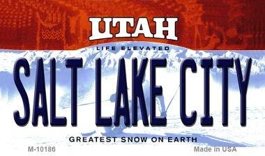 Salt Lake City Utah State License Plate Magnet M-10186 Mini Licence Plate Magnet (Utah State License Plate)