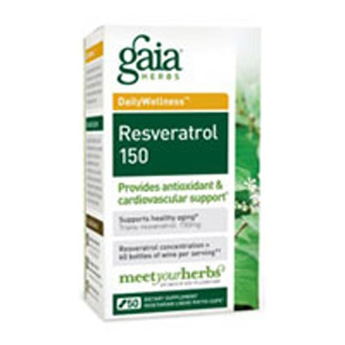 Gaia Herbs - Resveratrol-150 50 cap (Pack of 4)
