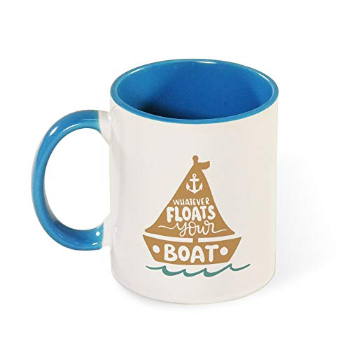 DKISEE Colorful Whatever Floats Your Boat Coffee Mug Novelty 11oz Ceramic Mug Cup Birthday Christmas Anniversary Gag Gifts Idea