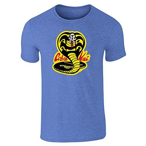 - Cobra Kai Karate Kid Dojo Retro Martial Arts Heather Royal Blue 2XL Short Sleeve T-Shirt