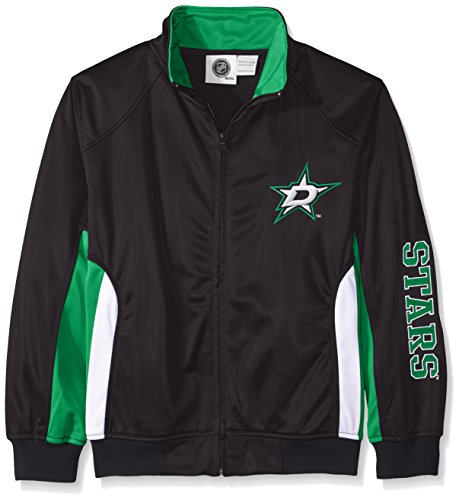 NHL Dallas Stars Tricot Track Jacket with Logo WordMark, X-Large, Black
