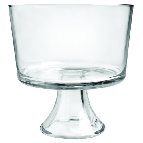 Anchor Hocking Presence Trifle Footed Dessert Bowl, Crystal clear glass - 86777L13 (Footed Centerpiece Bowl)