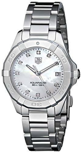 TAG Heuer Women's WAY1313.BA0915 Aquaracer Diamond-Accented Stainless Steel Watch ()