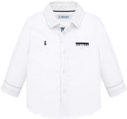 Mayoral Camisa de niño M/L Elegant, 6 Meses (68), Blanco: Amazon.es: Ropa y accesorios