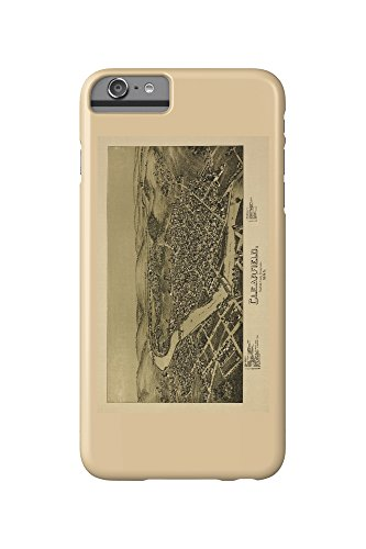 Clearfield  Pennsylvania   Panoramic Map  Iphone 6 Plus Cell Phone Case  Slim Barely There