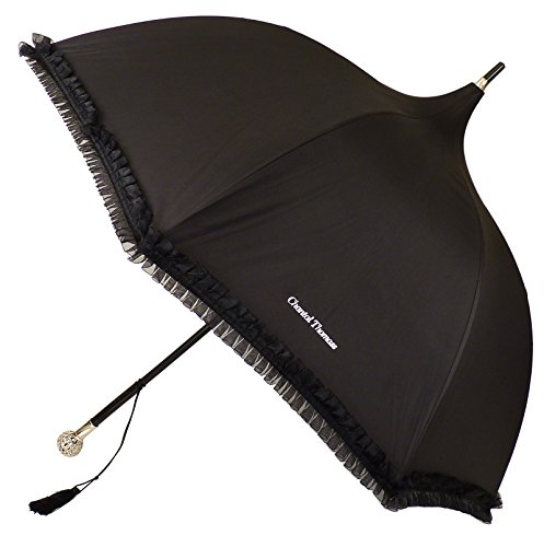 Chantal Thomass - Chantal Thomass Luxury Sphere Handle Pagoda Umbrella - Black by Chantal Thomass