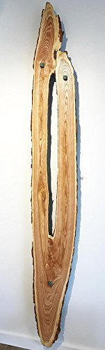 Reaching - Original Wood Art Contemporary Lodge Decor Wooden Wall Sculpture Modern Nature Art by Renowned Artist Adam Schwoeppe by The Fringe Gallery