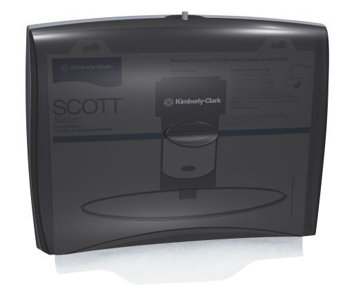 Kimberly-Clark IN-SIGHT 09506 Personal Seats Toilet Seat Cover Dispenser, 17-1/2'' Width x 13-1/4'' Height x 3-1/4'' Depth, Black by Kimberly Clark Professional