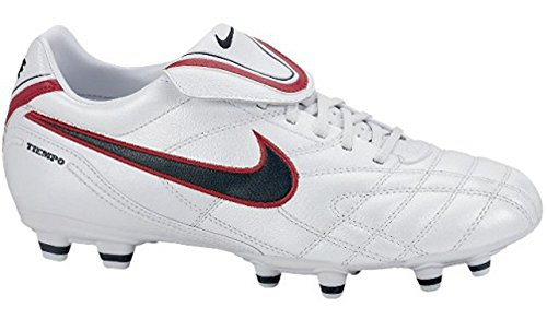 Nike TIEMPO MYSTIC III FG Zapatillas de fútbol sala, White/Seaweed-Colo, color, talla 7 US - White/Seaweed/Red