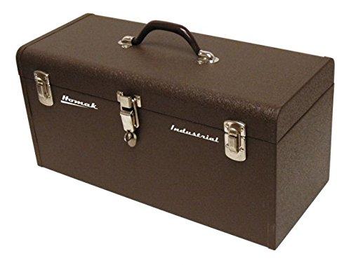Homak 20-Inch Industrial Steel Toolbox, Brown Wrinkle Powder Coat, BW00200200