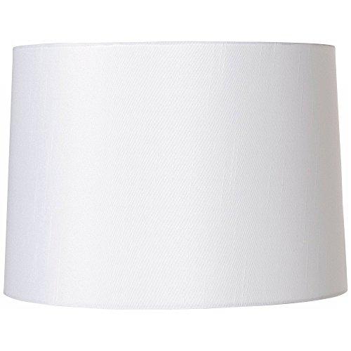 White Fabric Hardback Lamp Shade 13x14x10 (Spider) - Brentwood