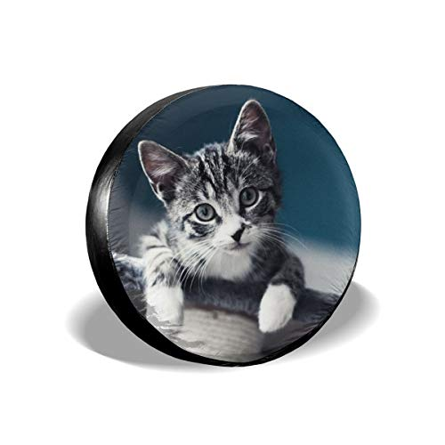 Cute Cat Funcy Kitty Spare Wheel Tire Cover Polyester Universal Wheel  Covers for Jeep Trailer RV SUV Truck Camper Travel Trailer Accessories