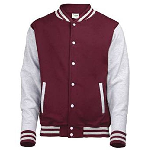 Uomo Awdis Giacca Burgundy Grey Heather 01B8A