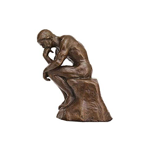 (Toperkin The Thinker Statues TPE-185B Bronze Scilptures Home Decor Figurines)