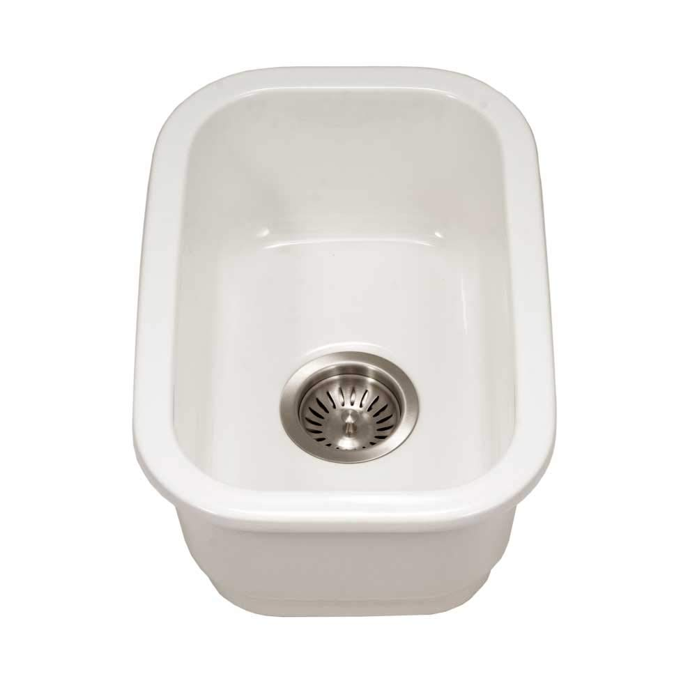 Houzer PTB-1318 WH Fireclay Bar Sink White