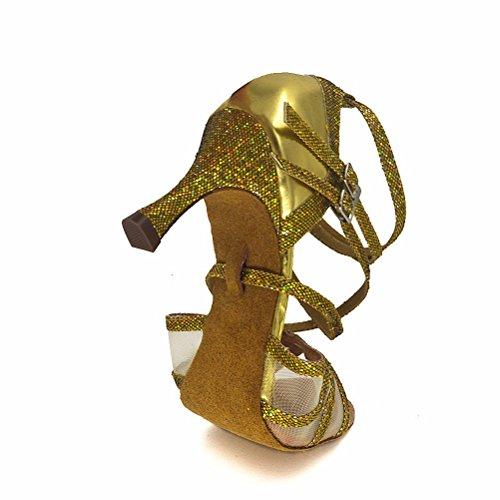 Bcln Donna Open Toe Sandali Tacchi Latino Salsa Tango Pratica Scarpe Da Ballo Sala Da Ballo Con 2,7 Tacco