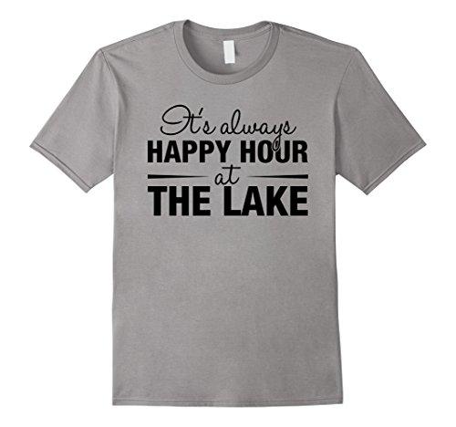 It's Always Happy Hour At The Lake - Boat Cruising T-Shirt (Lake Girl)