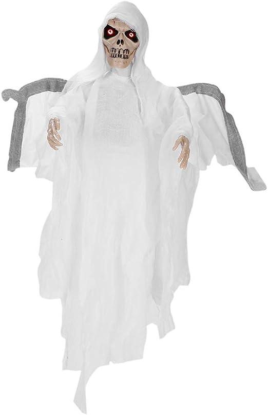 Halloween Hanging Ghosts Decor  Horror Skull Ghoul Props Skeleton