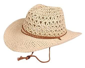 AIEOE - Sombrero de Paja Cowboy Vaquero Fresca Retro Gorra ...