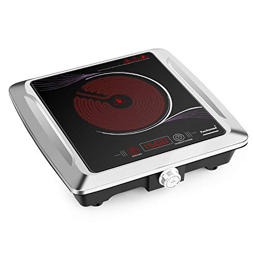 Techwood Portable Single Burner - Infrared Cooktop - Electric Ceramic Hot Plate ES-3105