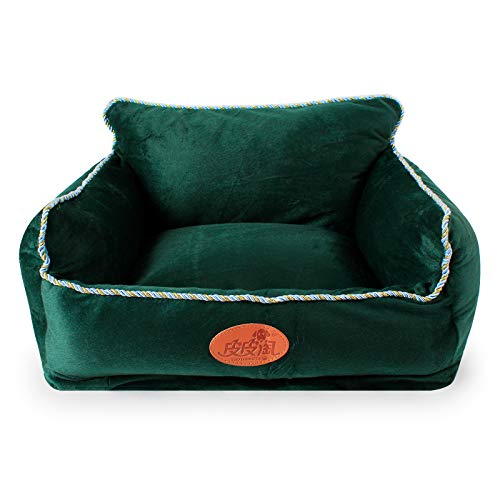 Green S green S Triplsun gold line side textile luxury dog bed lounge pet sleeping area pet bed