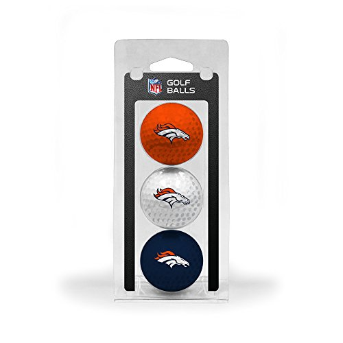 Team Golf NFL Denver Broncos Regulation Size Golf Balls, 3 Pack, Full Color Durable Team Imprint