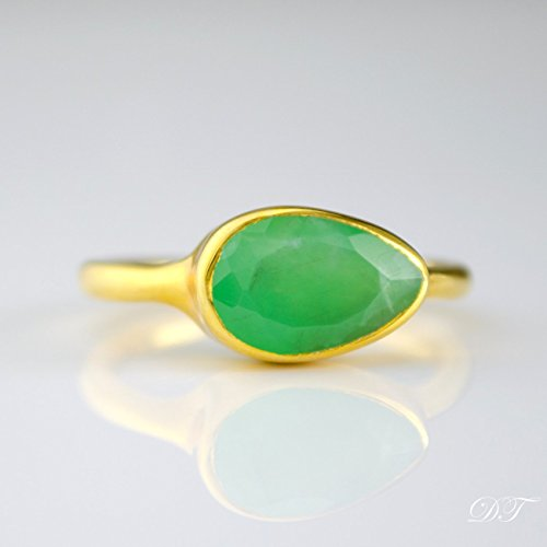 chrysoprase-ring-stackable-ring-vermeil-gold-or-silver-bezel-set-ring-teardrop-ring-mint-gree-gemsto