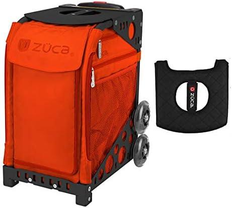 Z?CA INC Zuca スポーツバッグ - 柿 ギフト用 ブラック/ピンク シートカバー付き (ブラック非点滅ホイールフレーム)