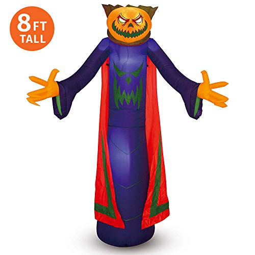 Joiedomi Halloween Pumpkin Wizard Inflatable for Halloween Yard Decor Outdoor Decoratio (8 ft ()
