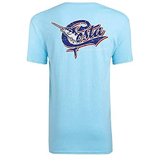 Costa Men's Retro Short Sleeve T-Shirt Sky XL ()