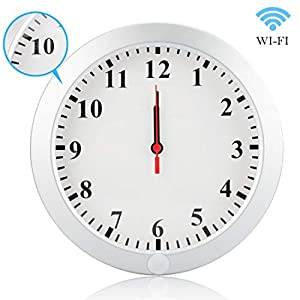 DareTang Upgraded HD 1080P WiFi Hidden Spy Wall Clock Camera Real-time Video Remote View on Your Phone Support iOS/Android/PC,Nanny Cam for Home Security