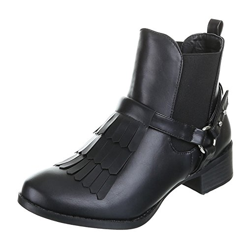 Womens Shoes, MY10073A Ankle Boots Black - Black