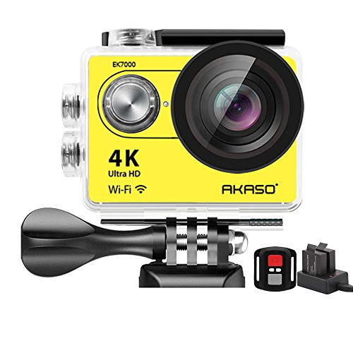 AKASO EK7000 Plus 4K 16MP WIFI Action Camera Adjustable View Angle 30M Waterproof Camera Remote Control Sports Camera with Helmet Accessories Kit and Filters AKASO