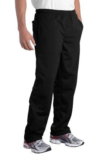 Sport-Tek Men's Tricot Track Pant L Black