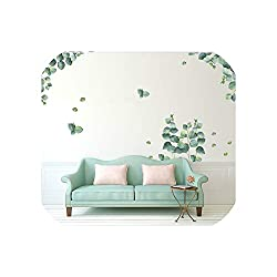 entertainment-moment New Green Plant Wall Decal Sticker Home Decor DIY Removable Art Mural for Living Room Sofa Tv Background Bedroom, 2Pcs 60X90Cm