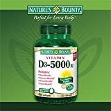 Nature's Bounty Vitamin D3 5000 IU, 300 Softgels (Pack of 3) Review