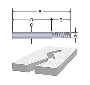 Bosch 85619 1/4-Inch Diameter 3/4-Inch Cut Solid Carbide Fiberglass Bur Router Bit 1/4-Inch Shank With Bearing