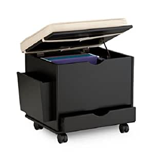 Amazon Com Rolling File Cabinet Storage With Ottoman