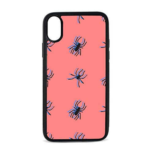 Case for iPhone Spider Insect Crawl Animal Creativity Digital Print TPU Pc Pearl Plate Cover Phone Hard Case Cell Phone Accessories Compatible with Protective Apple Iphonex/xsCase 5.8 Inch]()