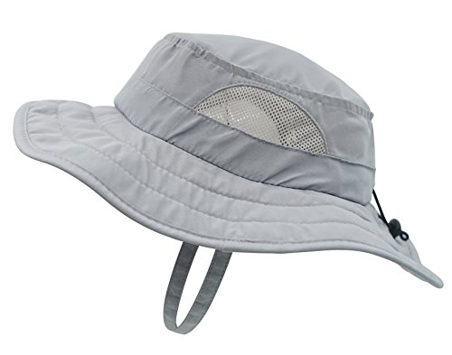 Connectyle Kids UPF 50+ Mesh Safari Sun Hat UV Sun Protection Hat Summer Daily Bucket Play Hat  ,48-54cm]()