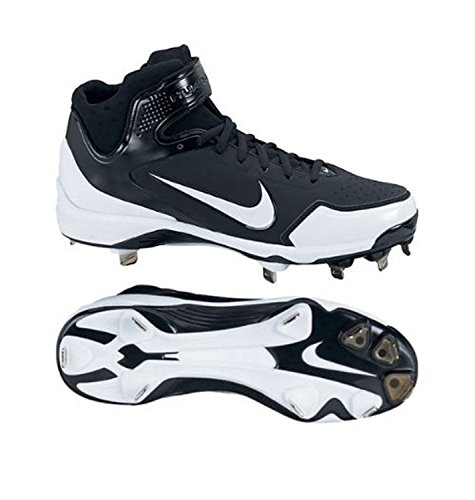 NIKE Air Huarache 2K Fresh Metal Mens Baseball (Medium/12.5 D(M) US, Black/Black/White)