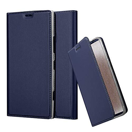 Cadorabo Book Case Works with Nokia Lumia 1520 in Classy Dark Blue - with Magnetic Closure, Stand Function and Card Slot - Wallet Etui Cover Pouch PU Leather - Style Pouch Leather Pu
