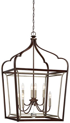 Minka Lavery Minka 4349-593 Transitional Eight Light Foyer from Astrapia Collection in Bronze/Darkfinish, 22.75 Inches 22.75 (Pendant Transitional Foyer Lights)