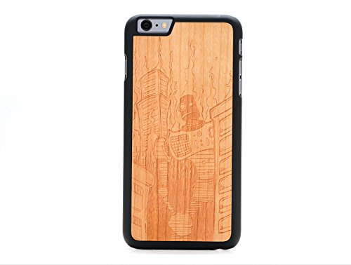 Carved Thin (CARVED Robot Doom by Augiewan Engraved Cherry iPhone 6/6s Plus Slim BK)