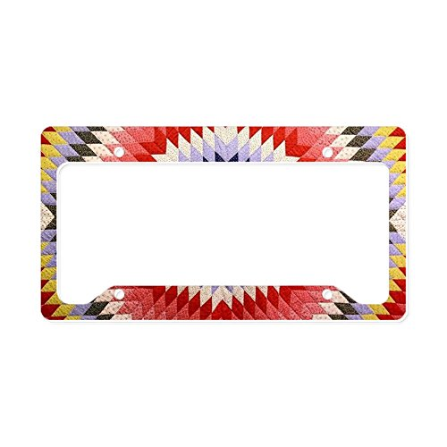 CafePress - Antique Quilt Pattern - Aluminum License Plate Frame, License Tag (Antiques Quilt)