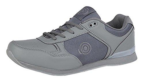 Schuhe Bowling Lace Up Mens Leichte Bowls Trainer Flache Grau Sohle Yx7CWqwFTf