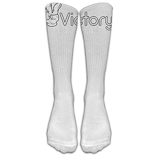 Victory Red Golf Hat (Unisex Knee High Long Socks Victory New Style Sport Wrist Socks ZHONGJIAN)