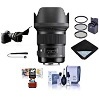 Sigma 50mm f/1.4 DG HSM ART Lens for Sony Alpha & Maxxum DSLR Cameras - USA Warranty Bundle With 77mm Filter Kit, Lens Wrap, Cleaning Kit, Capleash, Flex Lens Shade, Mac Software Package