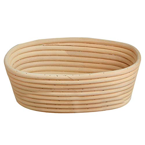 Migavan 25x15x8cm Rectangle Natural Rattan Banneton Brotform Proofing Basket Liner Bread Dough Making by Migavan