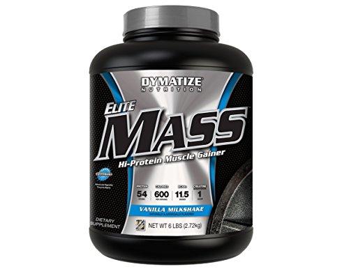 Gainer Strawberry Milkshake (Dymatize Elite Mass Hi-Protein Muscle Gainer, Vanilla Milkshake, 6 lbs)